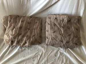 Curtain panels – 2 pieces - Brown for Sale in Richmond, TX