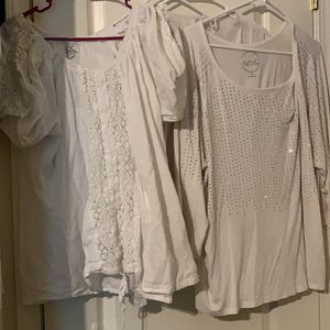 4 Pretty White Shirts Size 2XL $3 Each for Sale in Sacramento, CA