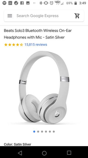 Beats solo 3 satin silver for Sale in Aurora, CO