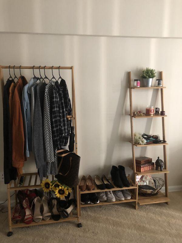 Bamboo clothing rack