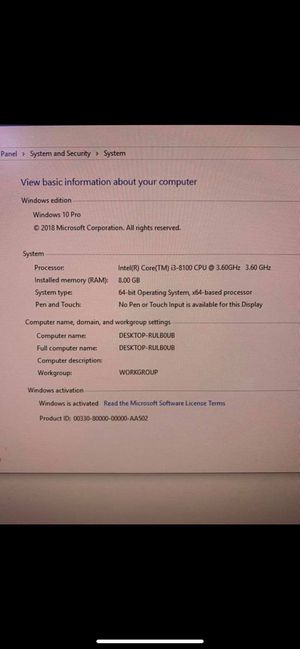 Gaming computer setup!!! for Sale in Baytown, TX