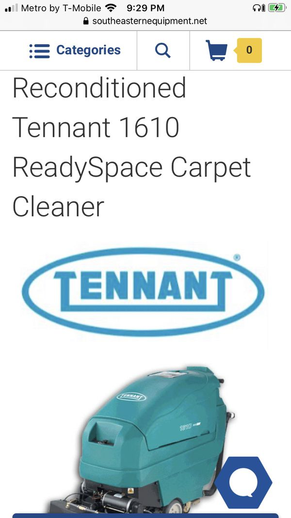 3200 pair !!!! send me your offer !!!Tennan 1610 ready space carpet cleaner and Tennant t3 floor scrubber