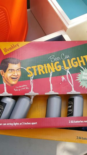 Wembley beer can syring lights battery powered for Sale in Orlando, FL