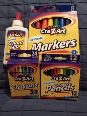 Brand New Glue, Markers, Crayons & Color Pencils - PICKUP IN AIEA - I DON'T DELIVER for Sale in Pearl City, HI