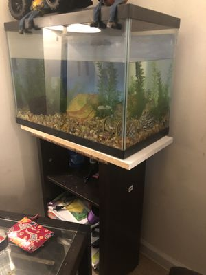 Used, 24 X 17 Gently Used Aquarium with Stand for Sale for sale  Queens, NY