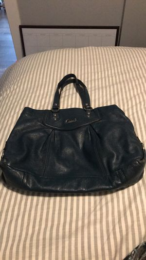 Authentic Coach hobo bag. Blue/teal leather. for Sale in Seattle, WA