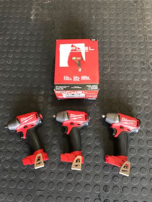 New Milwaukee impacts wrench 3/8 $ 115 each for Sale in Orlando, FL