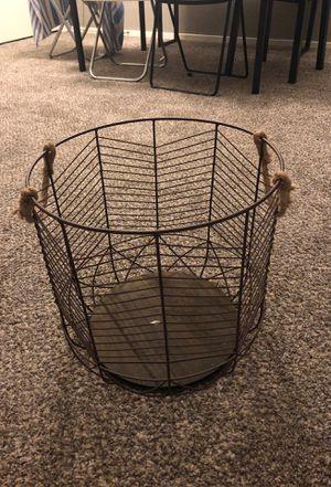 Throw blanket basket for Sale in Las Vegas, NV
