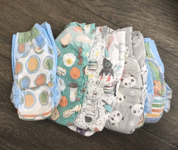 Honest Company newborn and size 1 diapers