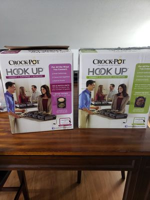2 Crock Pot Hook-Up Slow Cookers (BRAND NEW STILL IN BOX) for Sale in Tampa, FL