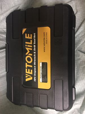 VETOMILE 18V Cordless Impact Drill Driver Kit and 1/2 Inch Electric Wrench Detachable Combo Kits with 2-Speed Setting Powerful Rechargeable Lithium-I for Sale in Evansville, IN