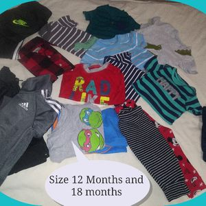 12M AND 18 MONTHS BRAND BABY CLOTHES, IN EXCELLENT CONDITIONS. for Sale in Brandon, FL