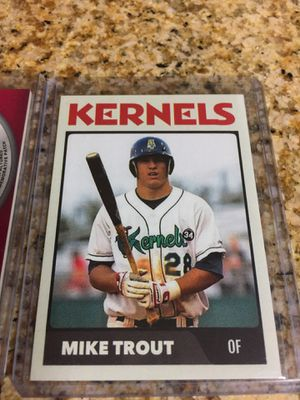 Baseball cards Mike Trout Patch & Minor league card $20 for Sale in Los Angeles, CA