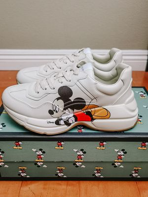 Disney x Gucci Rhyton Women Sneaker White Mickey G38 US8 for Sale in Rowland Heights, CA
