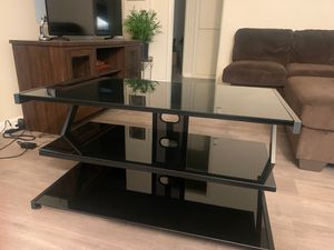 3 shelf glass tv stand for Sale in South Gate, CA