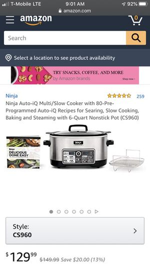 Ninja Auto-IQ slow cooker for Sale in Orange, CA