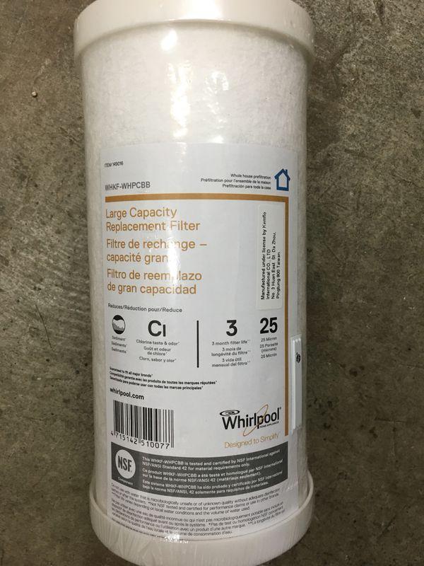Whirlpool appliance filter