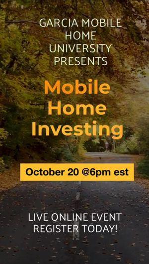 Mobile Home Investing Webinar for Sale in Forsyth, GA