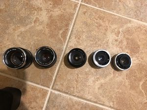 Various vintage canon and other lenses for Sale in Clarksburg, MD