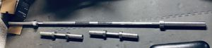 Olympic Barbell set with 180 of weights, stand and dumbbell handles. Like New for Sale in Poway, CA