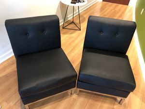 Black/Chrome leather chairs for Sale in Nashville, TN