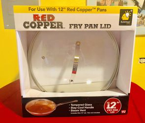 """12"""" Red copper fry pan lid new in box for Sale in Englewood,  CO"""