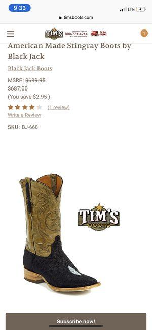 Size 12 Black Jack Stingray boots for Sale in Keller, TX