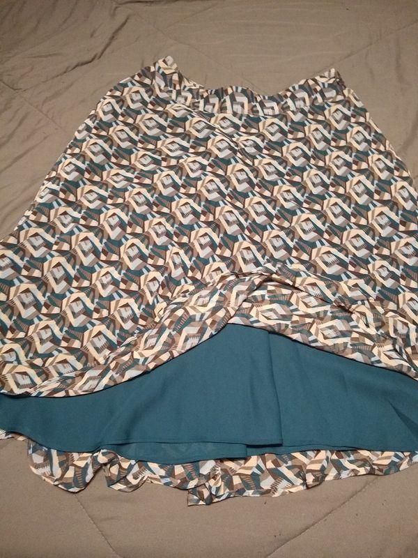 Anne Klien silk skirt size 6