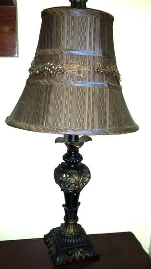 Bronze lamp with beaded shade for Sale in Miami, FL