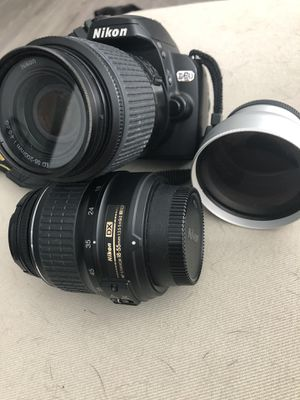 Nikon D60 with additional lens for Sale in Orlando, FL