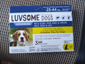 Luvsome flea/tick tx dogs 23-44 pounds for Sale in Hollins, VA