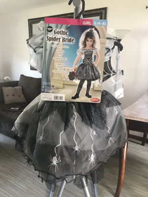 Girls Halloween Costume ~ Gothic Spider Bride for Sale in Oak Grove, MN