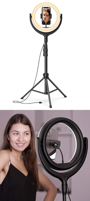 "(NEW) $45 LED 10"" Selfie Ring Light w/ 67"" Tripod Stand & Phone Holder for Makeup/Video/Photo for Sale in Whittier, CA"