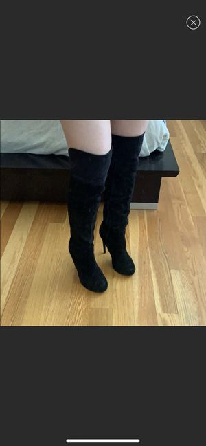 Aldo suede black boots- Size 38.5 for Sale in Los Angeles, CA