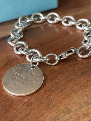 Tiffany & Co. authentic round tag bracelet return to for Sale in Arlington, TX