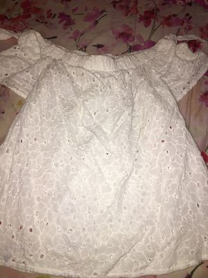 White lace top off the shoulders for Sale in San Antonio, TX