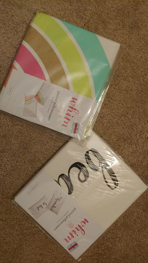 Two sets of 2 standard sz. Pillow cases for Sale in Bellevue, WA