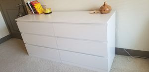 Ikea Malm 6 Drawer White Dresser for Sale in Richardson, TX