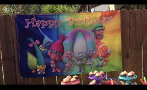 Trolls Happy Birthday Banner for Sale in Berkeley, CA