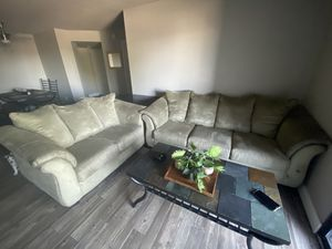 Green/Grey Comfortable Love Seat & Couch for Sale in Phoenix, AZ