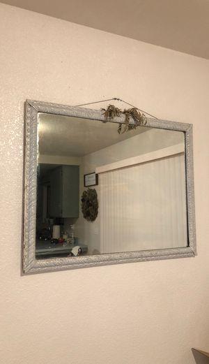 Vintage white mirror for Sale in Modesto, CA
