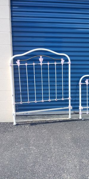 Antique Ornamental Metal. Single size headboard and footboard only for Sale in Newport News, VA