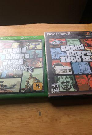 GTA Games PS2/XBOX for Sale in El Mirage, AZ