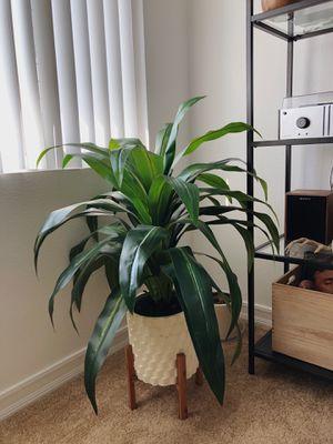 Fake plant in cute modern white pot for Sale in Costa Mesa, CA