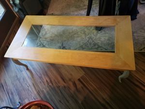 Wood and glass coffee table for Sale in Swansea, IL