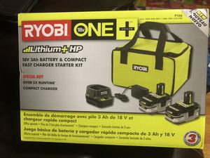 Ryobi 3Ah battery kit new in box never opened for Sale in Chicago, IL