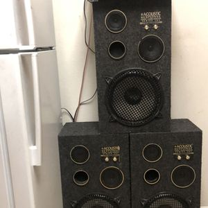 Kenwood VR-407 Av Surround Sound ReceiverAnd Three Acoustic Response Series 707 Audio 3 Way Speakers for Sale in Vallejo, CA