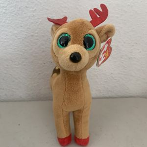 TY Tinsel The Christmas Reindeer Plush Stuffed Animal Beanie Baby New With Tags for Sale in Beaverton, OR