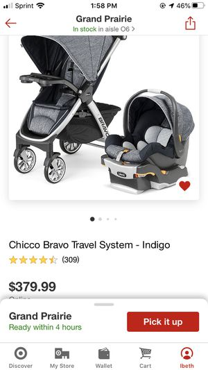 Chicco Bravo stroller and car seat bundle for Sale in Grand Prairie, TX