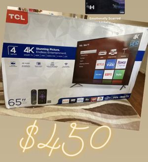 "Roku TCL 65"" 4K SMART TV for Sale in Warren, MI"